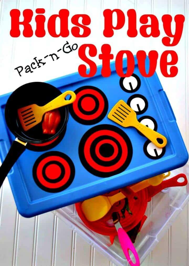 Estufa de juego para niños DIY Pack-n-Go