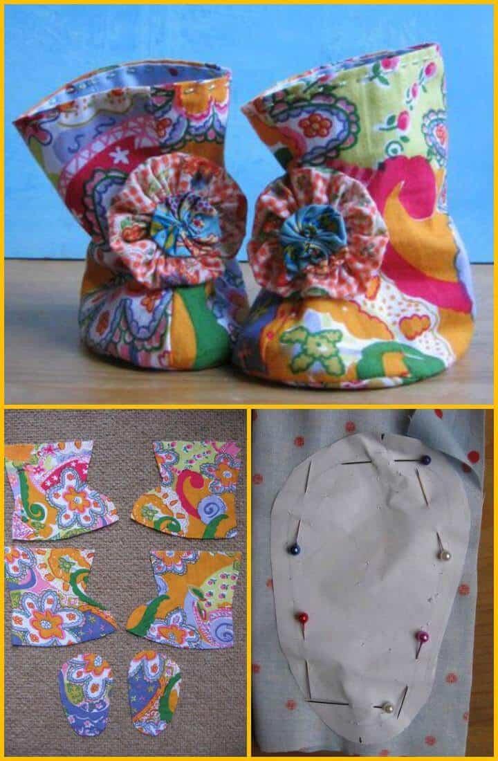 botines de bebé de cachemira hechos a mano