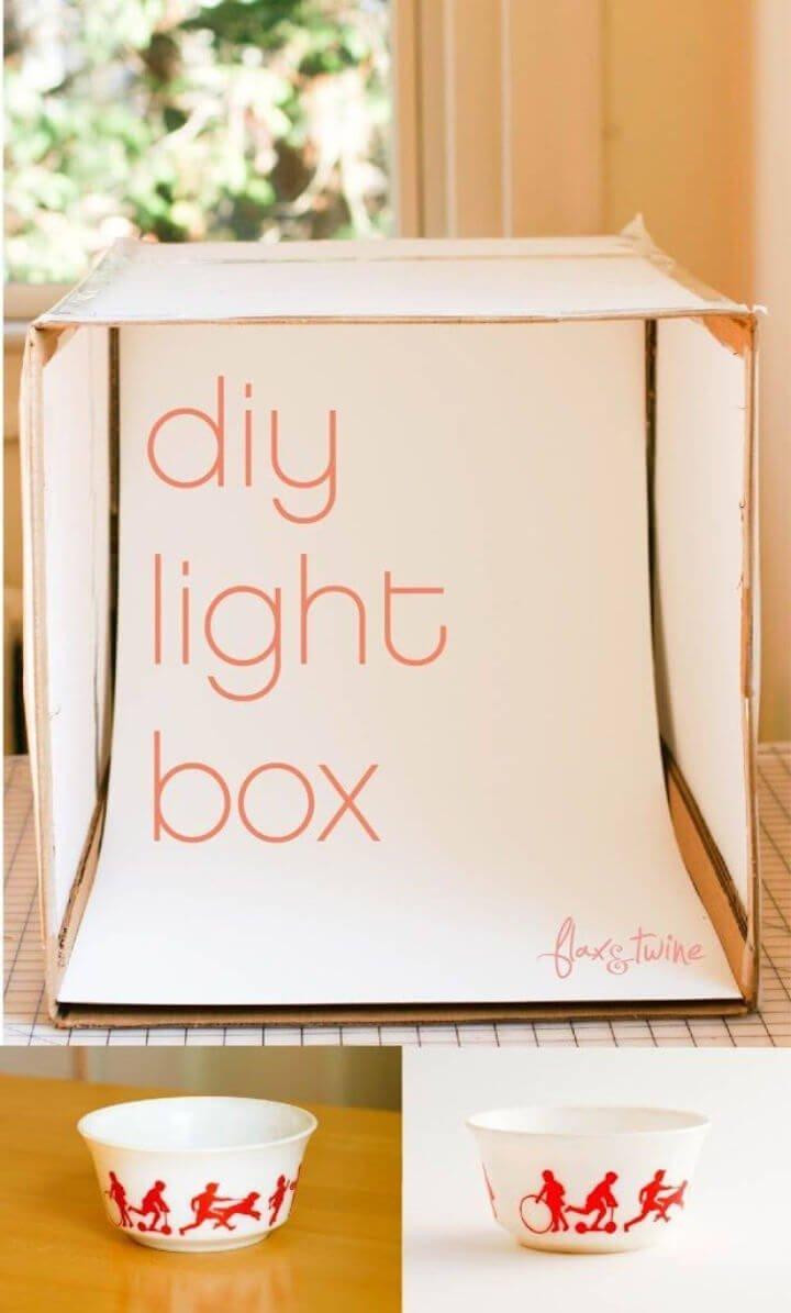 Caja de luz de fotos de bricolaje