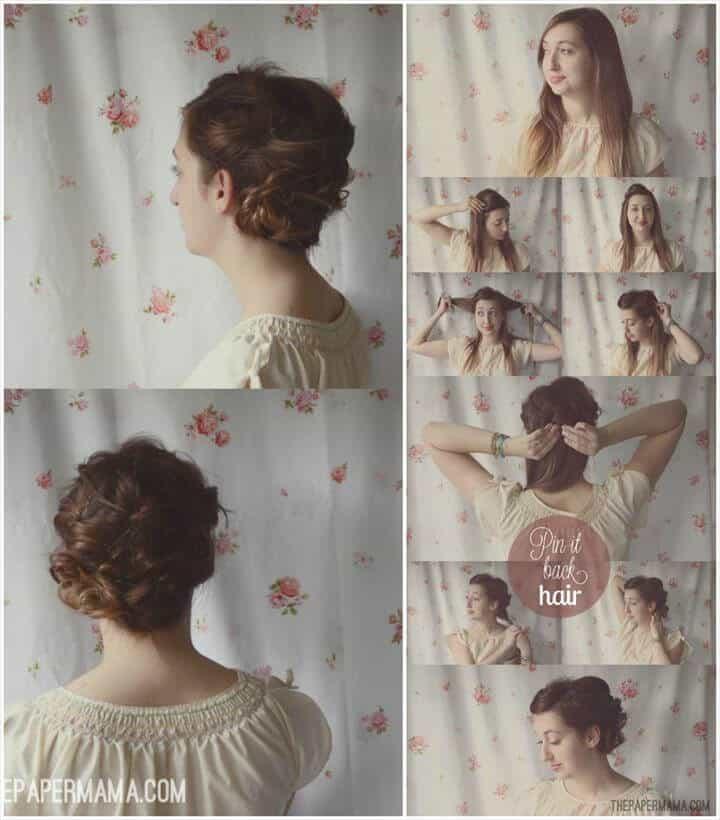 hermoso peinado pin-it-back
