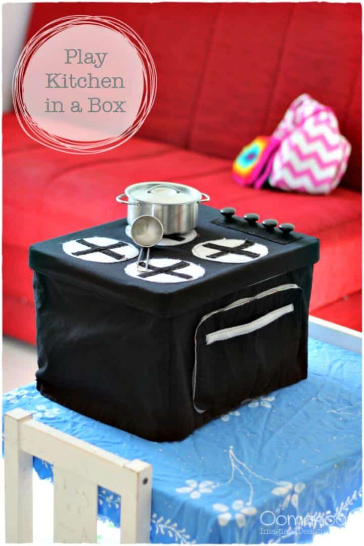 DIY Play Kitchen in a Box - Tutorial de costura