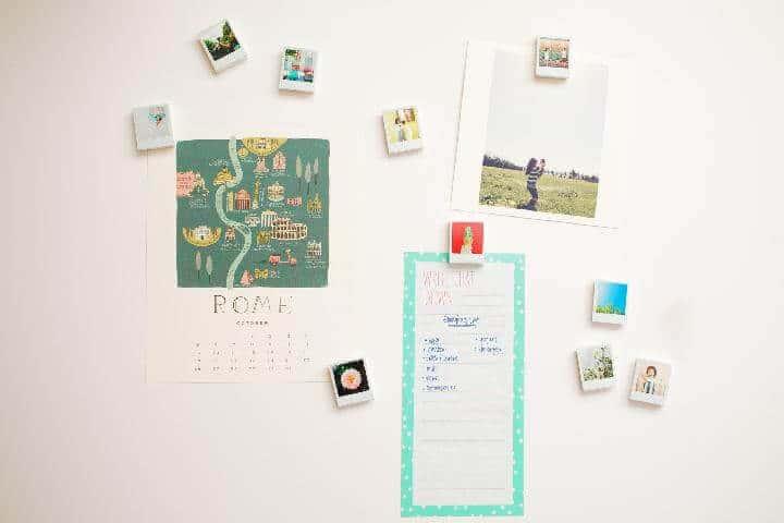 Imanes de fotos Polaroid de bricolaje