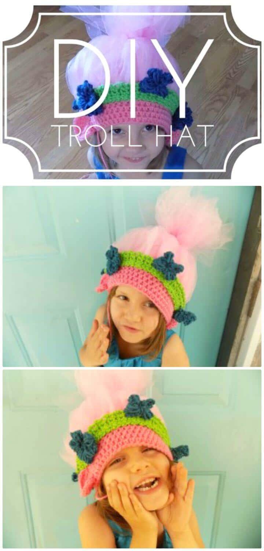 Patrón de sombrero de troll amapola de ganchillo fácil y gratuito