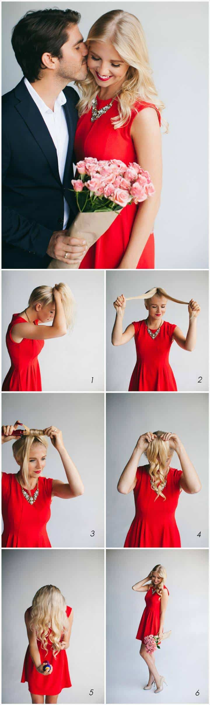 peinado rizado fácil y rápido