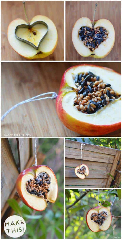 comedero para pájaros easy apple heart