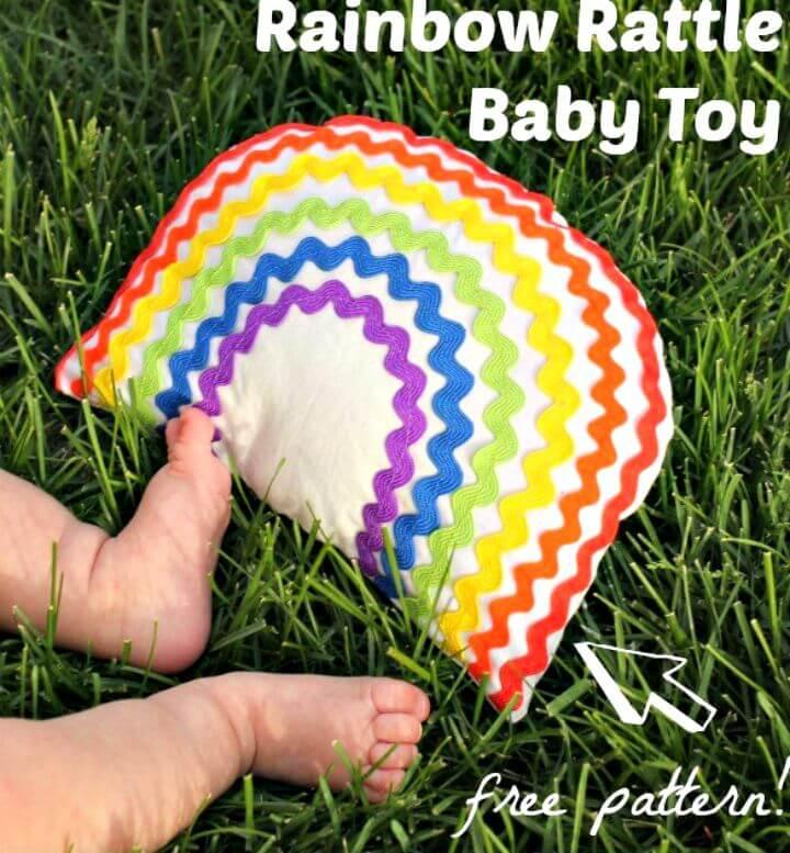 Juguete de bebé arcoíris de bricolaje