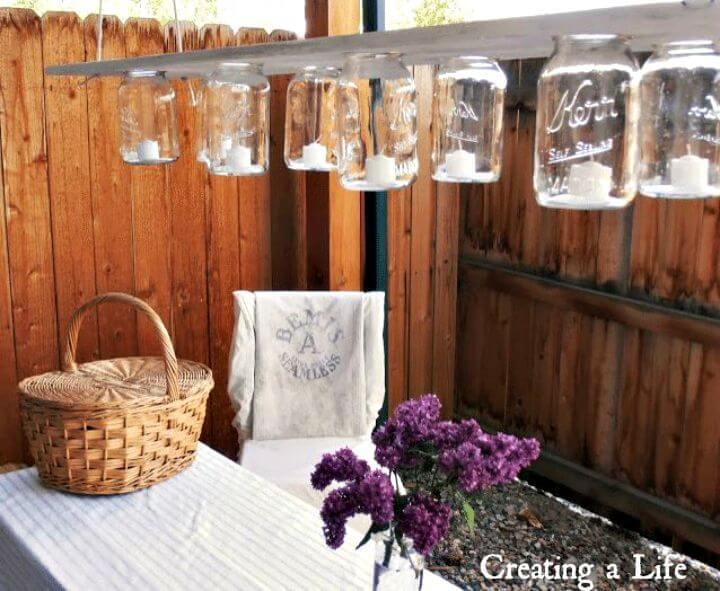 El candelabro de tarro de albañil rústico de bricolaje es perfecto para cualquier ocasión