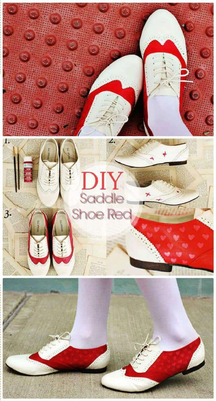 Zapato de silla de montar DIY rojo