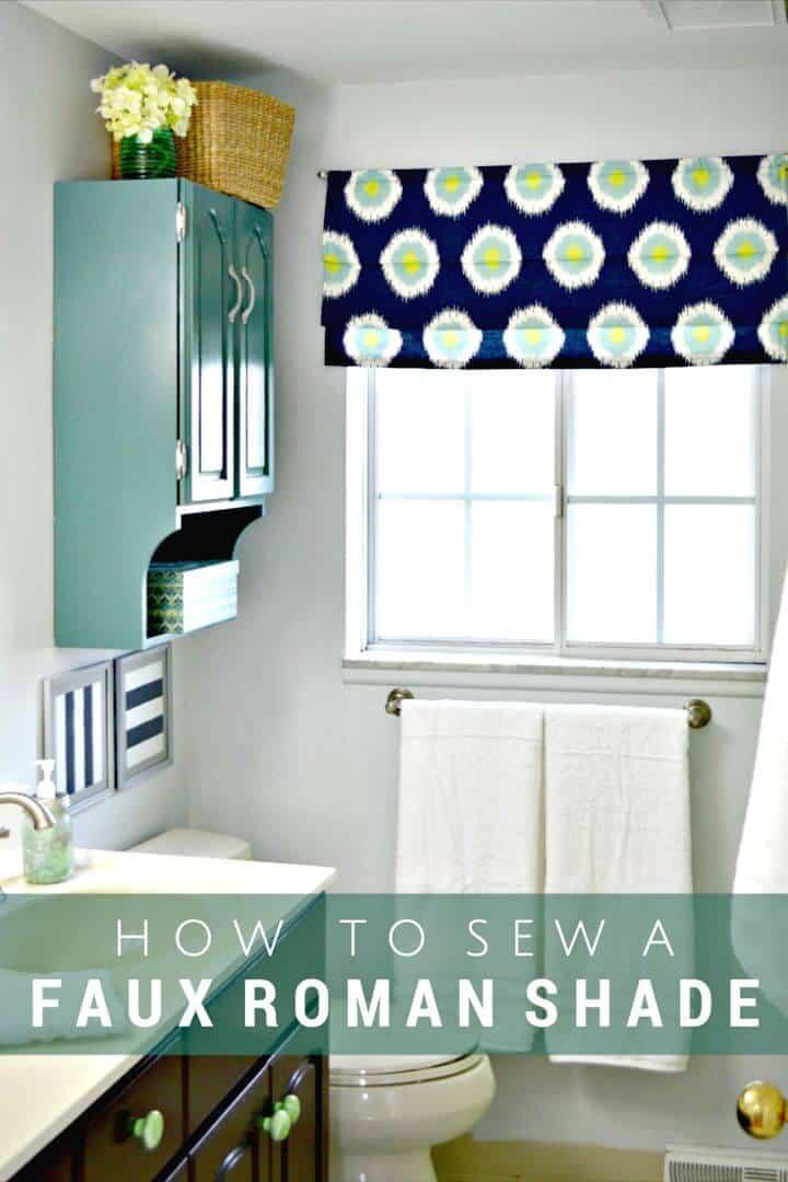 DIY coser una cortina romana de imitación