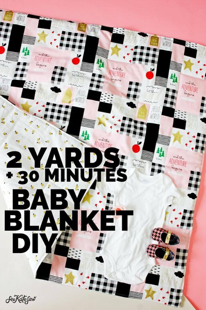 DIY coser una manta de bebé con 2 yardas de tela