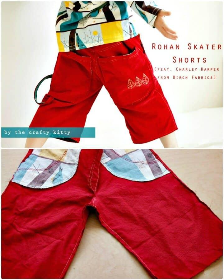 Pantalones cortos de skate de bricolaje para niños para el verano