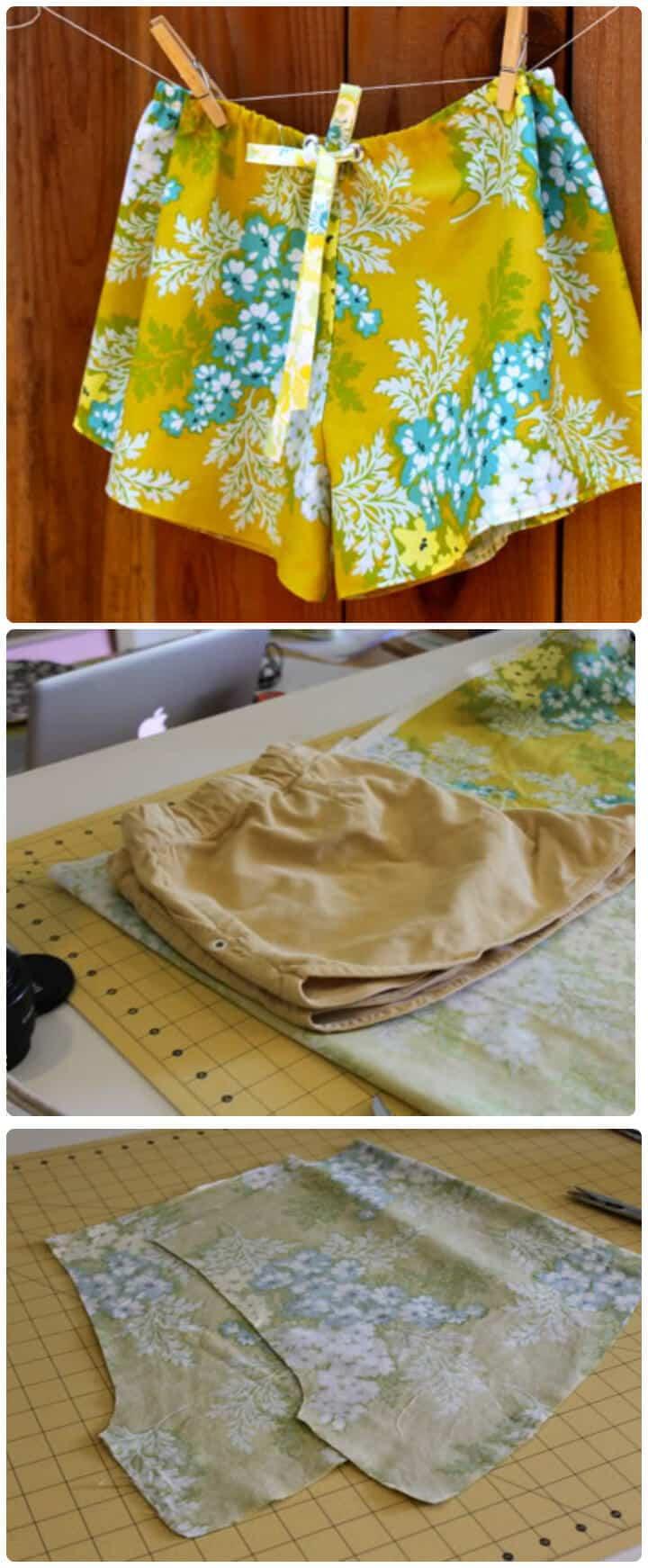 pantalones cortos de dormir frescos de bricolaje