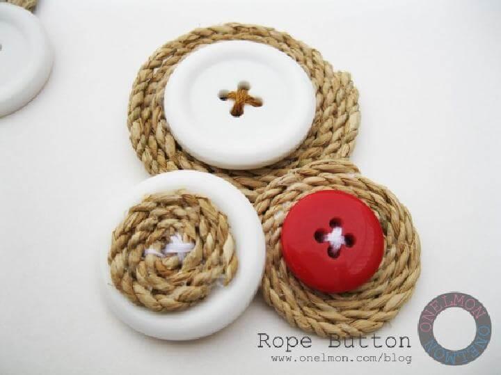 Botones de cuerda hechos con bricolaje