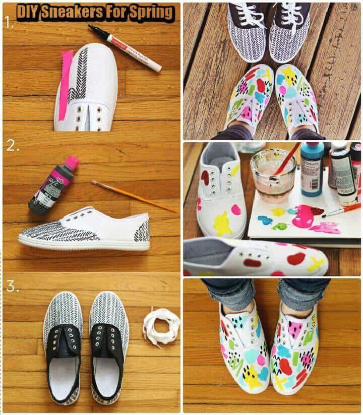 Zapatillas de bricolaje para la primavera