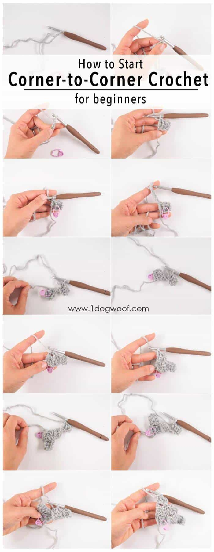 DIY Start Your Own C2C Para principiantes, ¡aprenda a tejer c2c en crochet!
