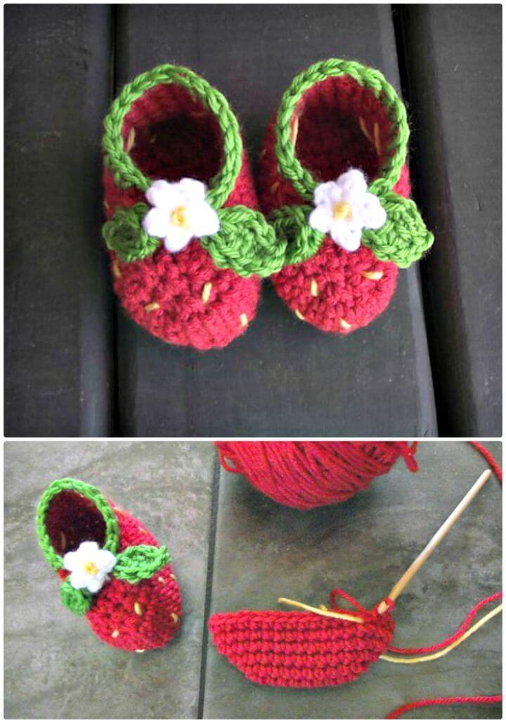 Botines de fresa: un patrón gratuito para tejer