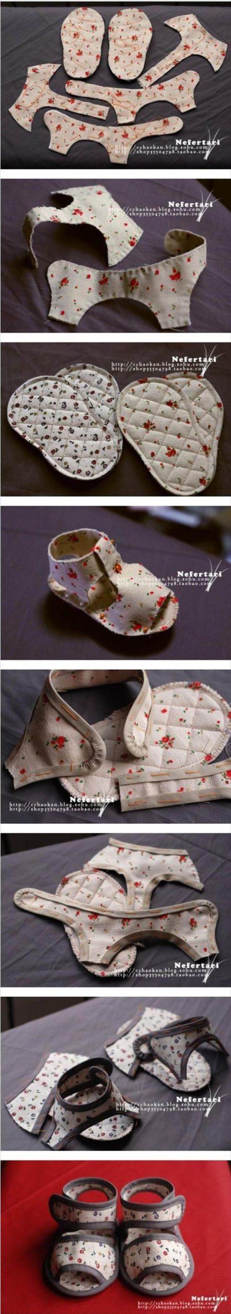 impresionantes sandalias de bebé hechas a mano