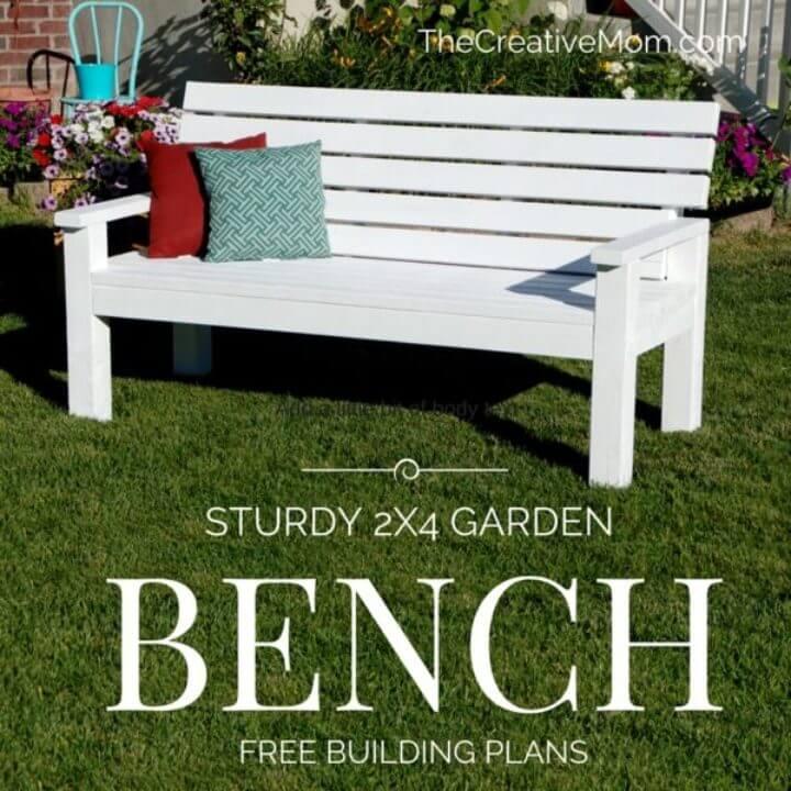 Banco de jardín robusto de bricolaje