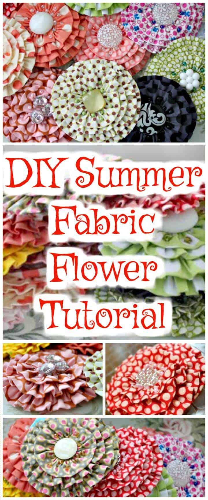 tutorial de flores de tela de verano hecho a mano