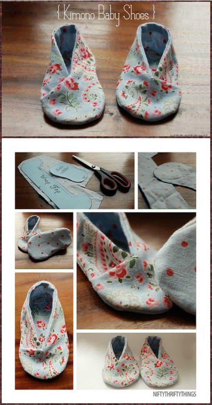 zapatos de bebé kimono hechos a mano