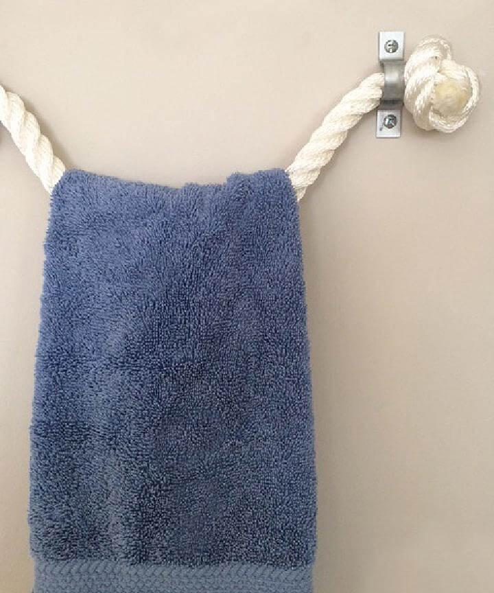 Soporte de toalla de cuerda súper fácil de bricolaje
