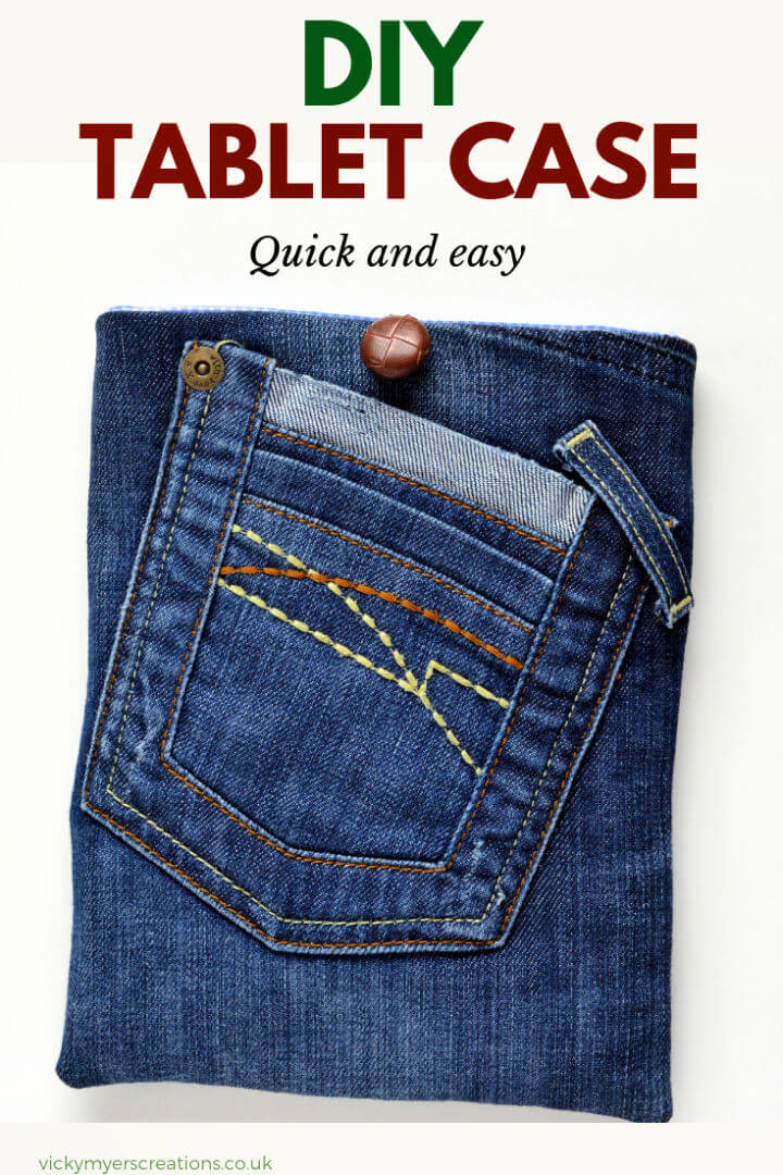 Funda para tableta DIY de Old Jeans