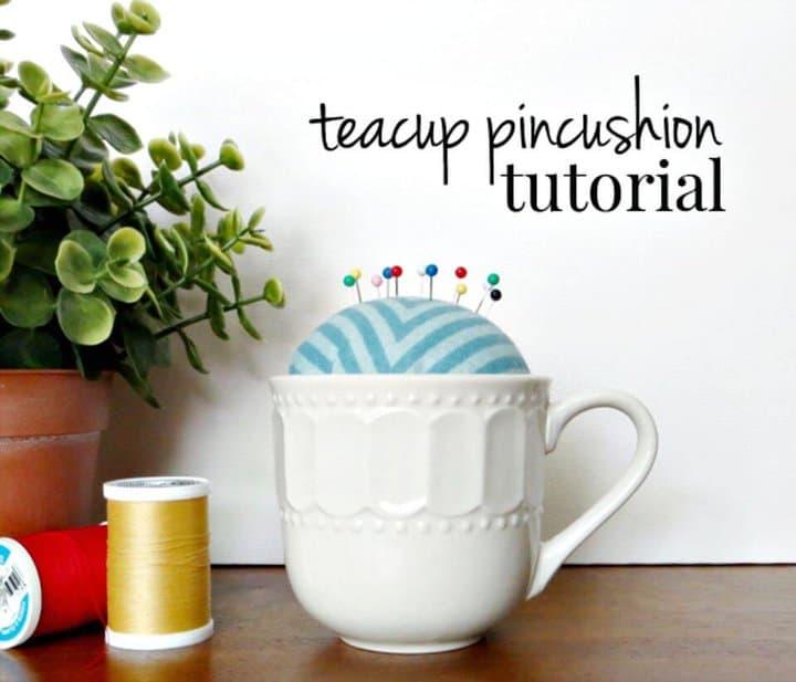 Cómo hacer un cojín con alfileres para tazas de té