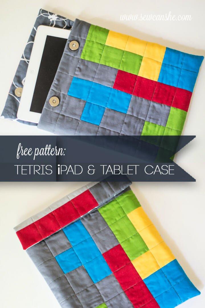 Funda para tableta con temática DIY Tetris