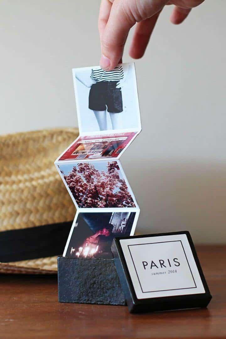 DIY Tiny Travel Album in a Box, guarda tus recuerdos de viaje haciendo un pequeño libro de viajes y si necesitas inspiración, ¡échale un vistazo aquí!