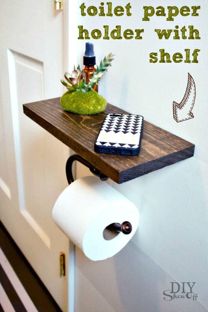 Estante de papel higiénico de bricolaje y accesorios de baño