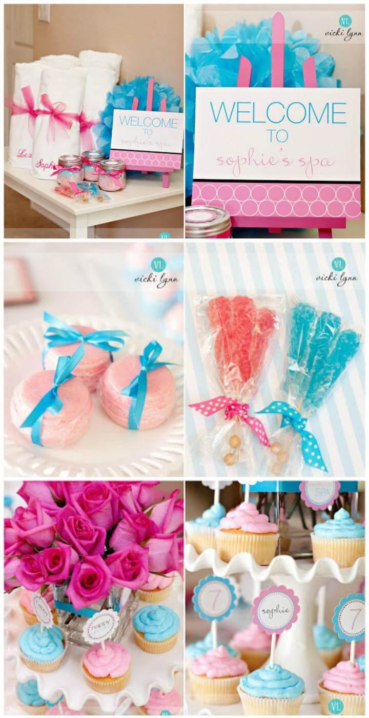 Idea de fiesta de cumpleaños de bricolaje Tween Girl Spa