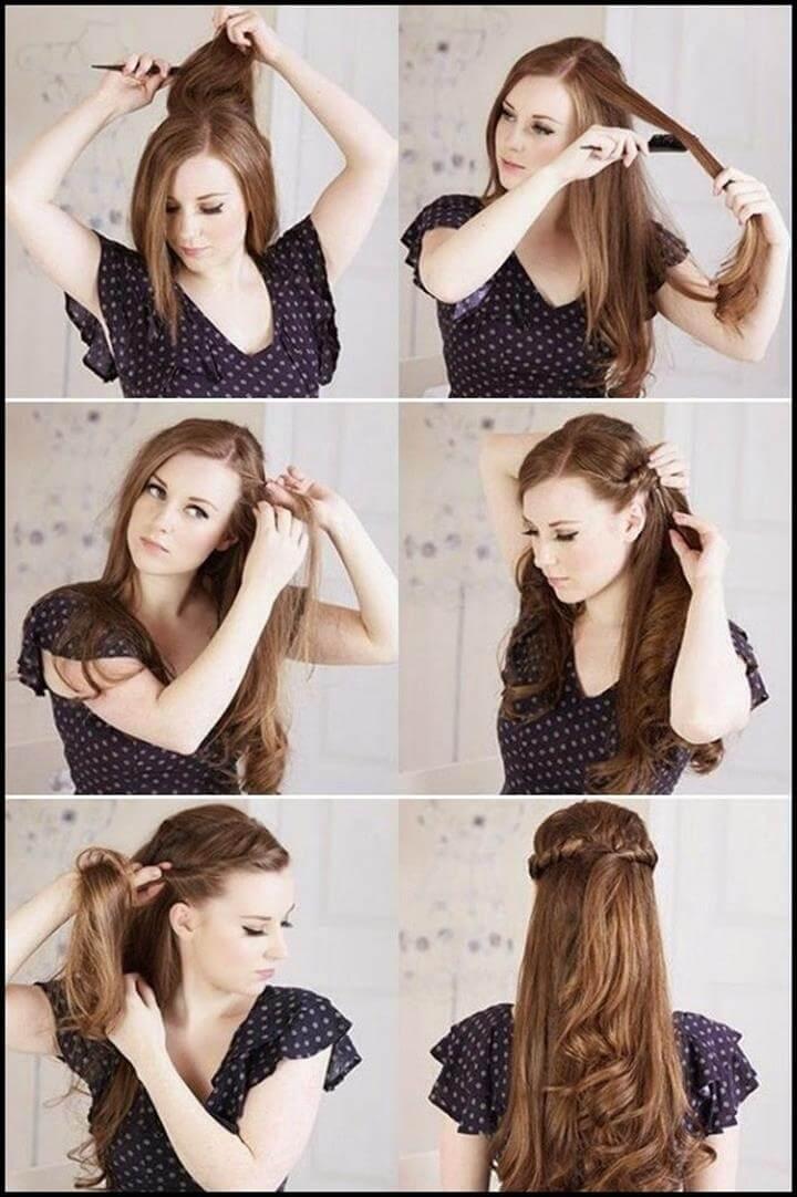 peinado medio retorcido