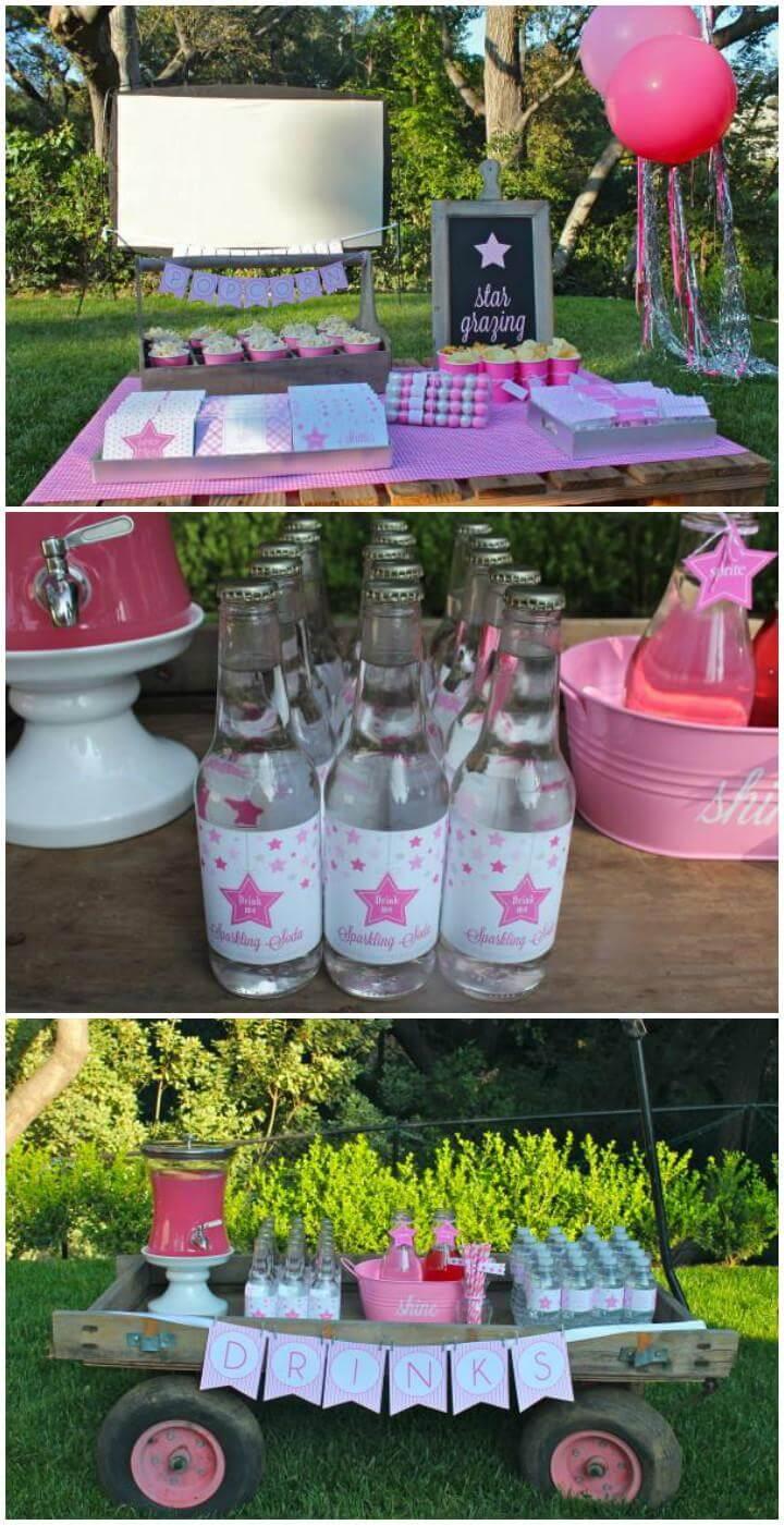 DIY Under Star Teen Birthday Party Idea