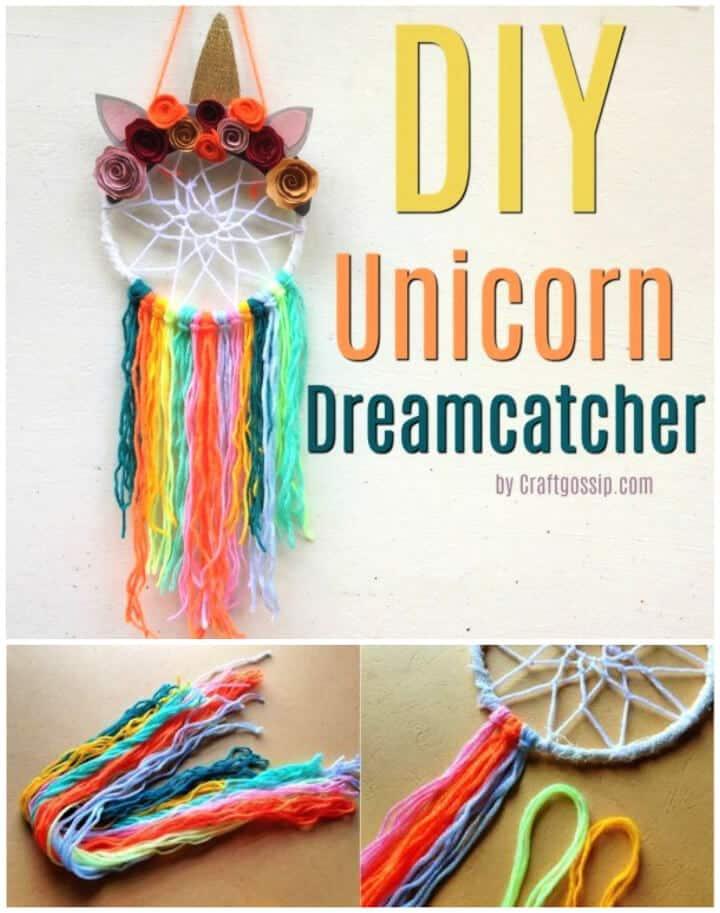 Idea de regalo DIY Unicorn Dreamcatcher