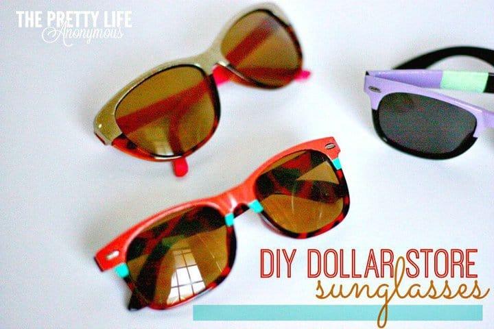 Gafas de sol de Dollar Store recicladas para bricolaje