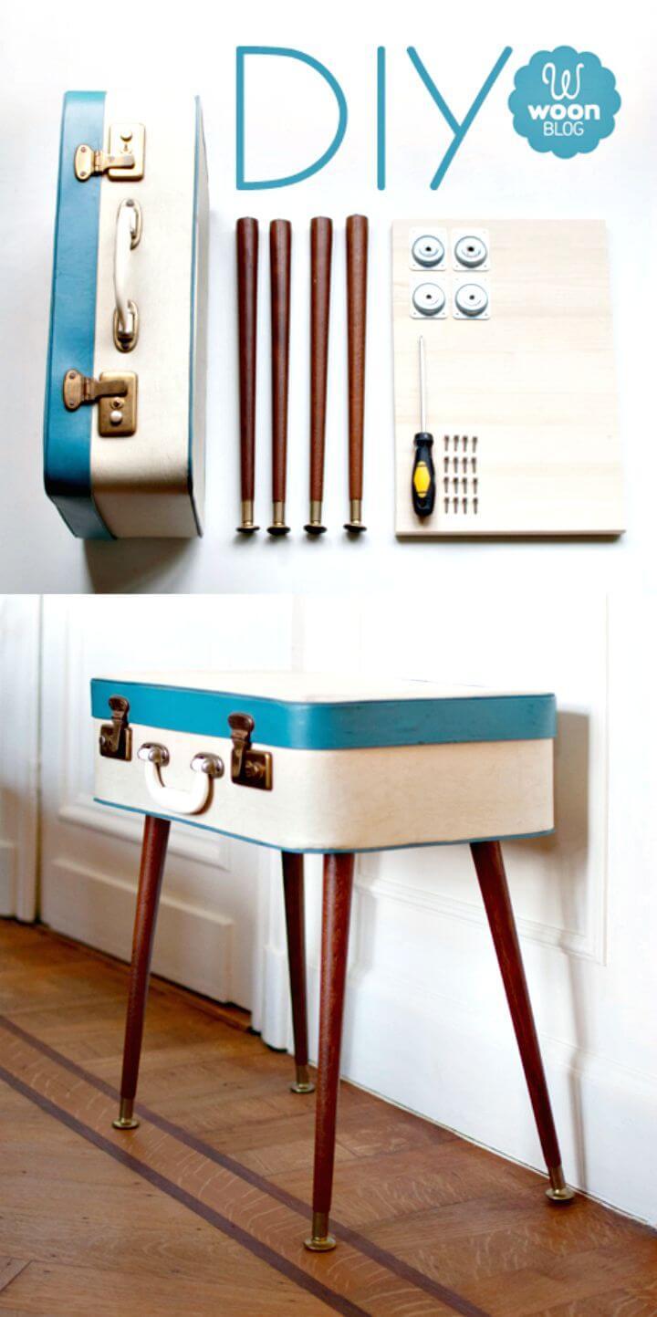 Mesa auxiliar Easy DIY Vintage Suitcase