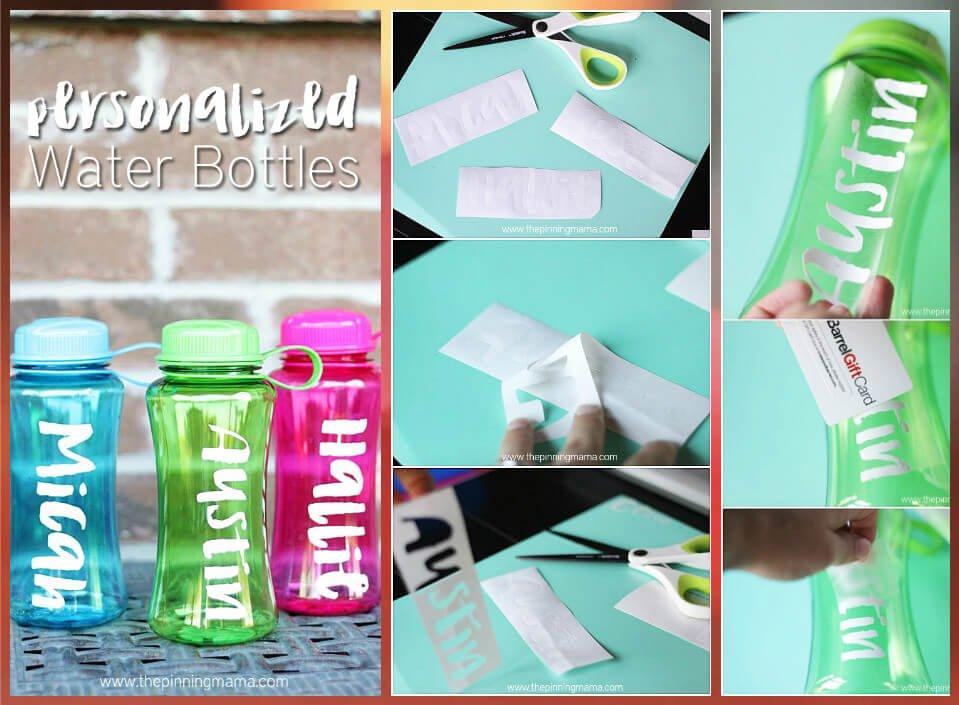 Botellas de agua personalizadas de fácil transferencia de papel de vinilo