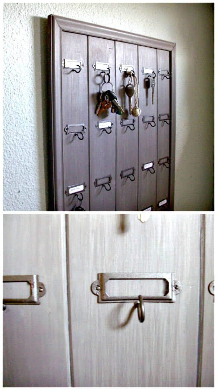 Fácil tutorial de bricolaje para llaves de hotel de madera montadas en la pared