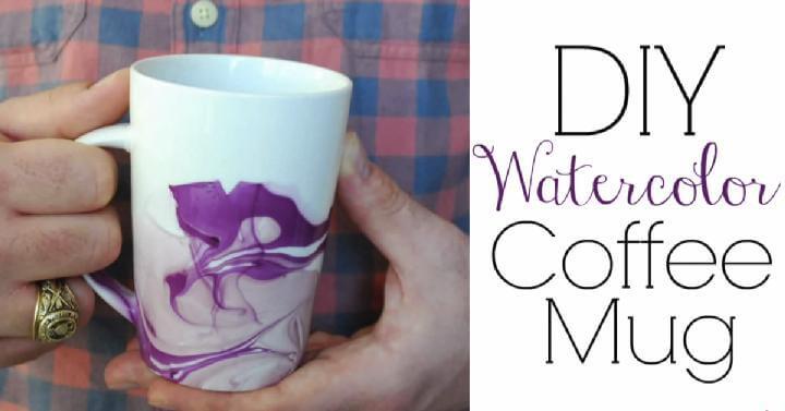 Regalo de la taza de café de la acuarela de DIY