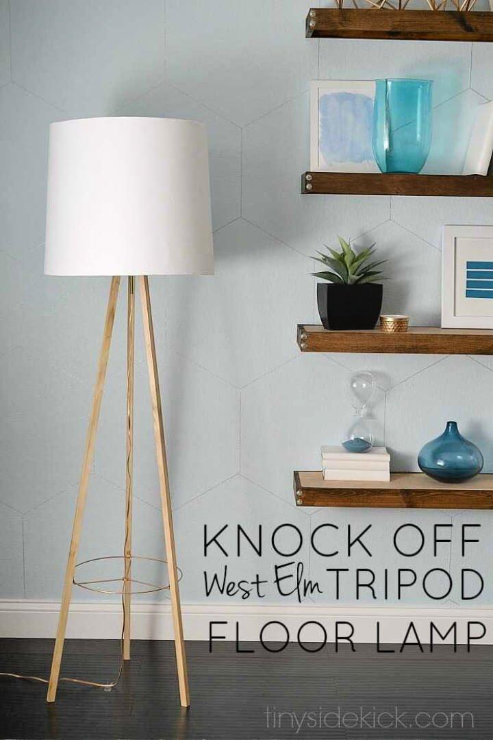 Lámpara de pie trípode inspirada en el olmo occidental DIY