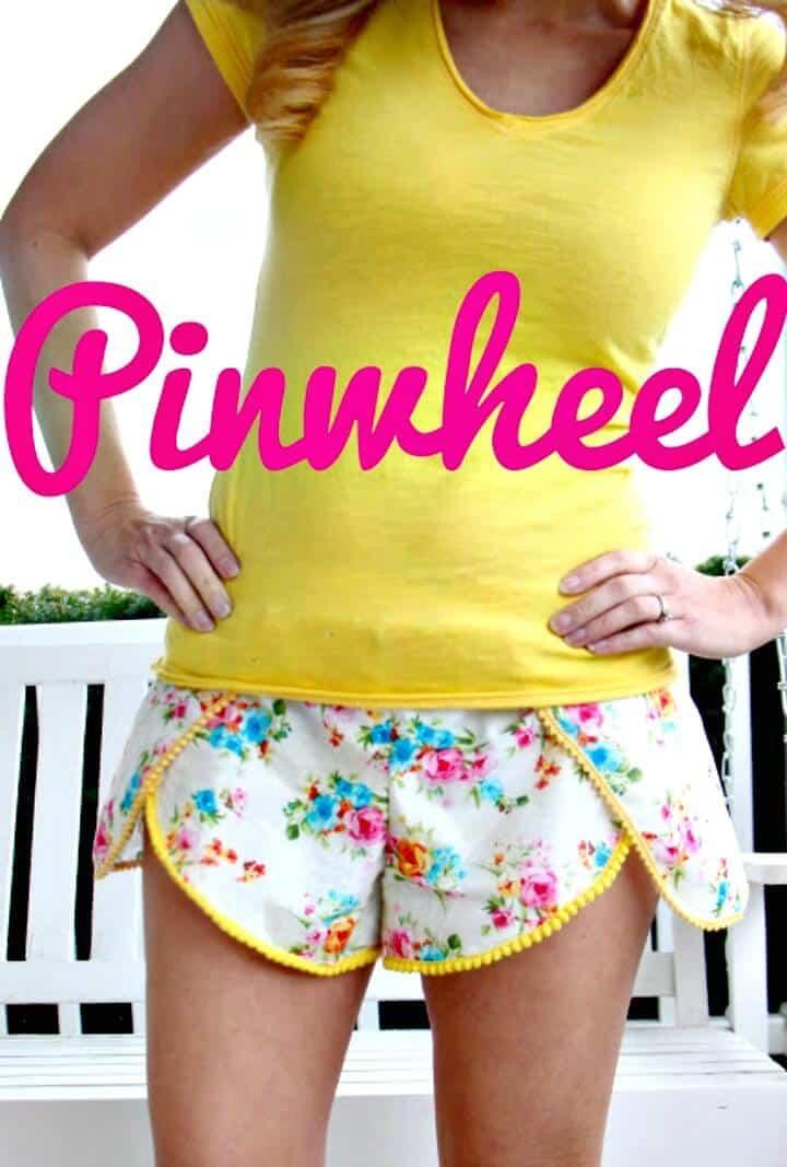 Pantalones cortos de molinillo de flores silvestres de bricolaje