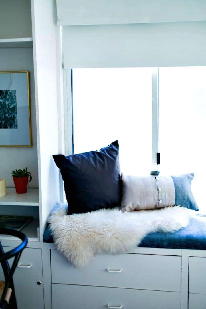 Tutorial sencillo de cojín para el asiento de la ventana de bricolaje