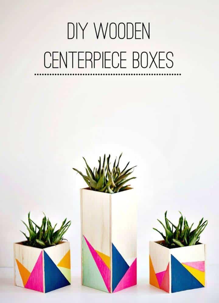 Magníficas cajas de centro de mesa de madera para bricolaje