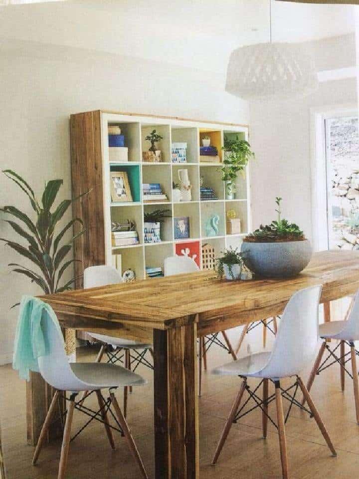 Marco de madera de bricolaje para estantería Kallax grande