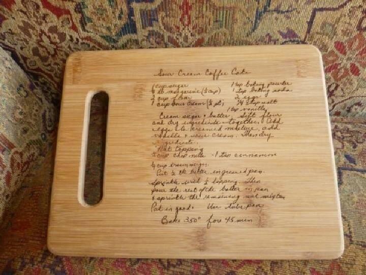 Regalo de tablero de madera sobrescrito de bricolaje