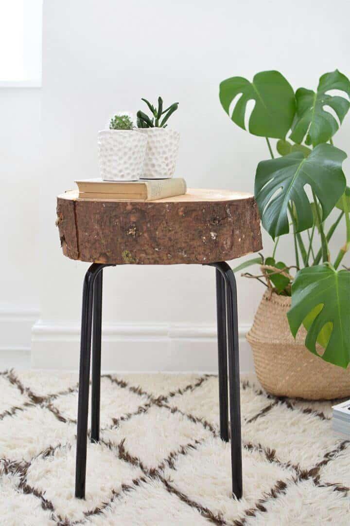 Taburete de madera DIY Ikea Hack