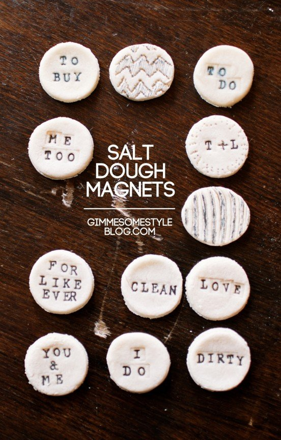 Imanes de masa de sal de bricolaje
