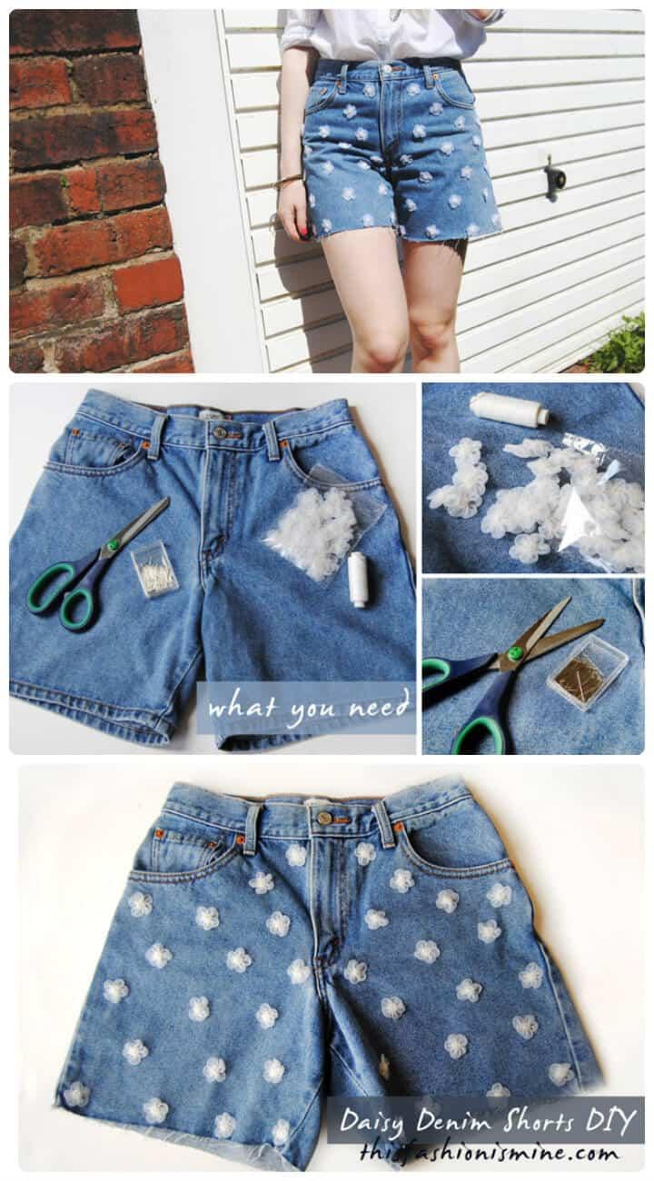 shorts de mezclilla funky daisy