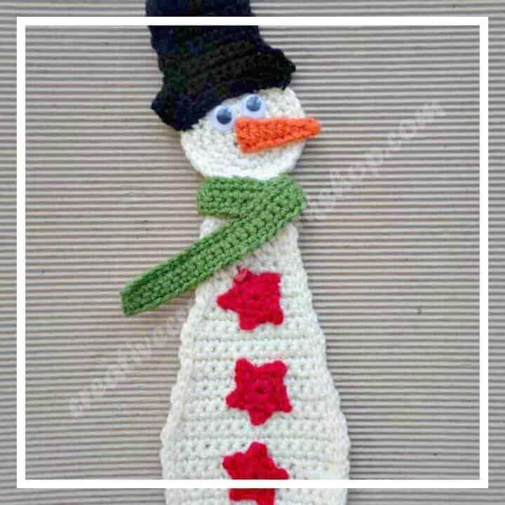 Cómo tejer un muñeco de nieve a ganchillo - Patrón gratuito