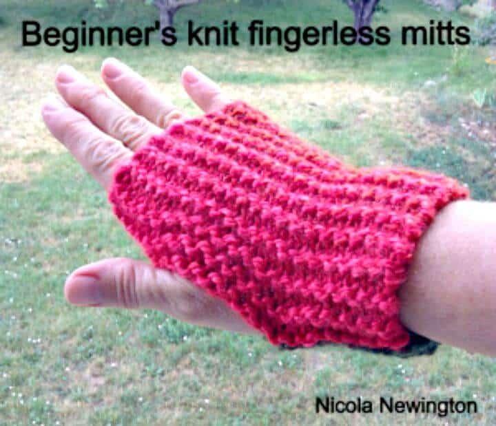 Mitones sin dedos más fáciles de tejer: patrón libre